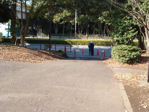 品川・大井スポーツの森大会 外周へ出る坂道の画像