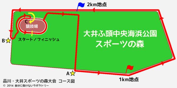 品川・大井スポーツの森大会 コース図