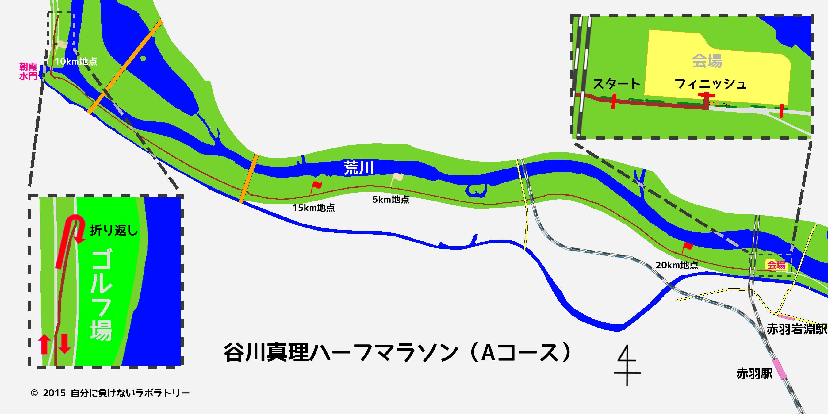 谷川真理ハーフマラソン Aコース 第16回 谷川真理ハーフマラソン(ハイテクハーフマラソン)を走