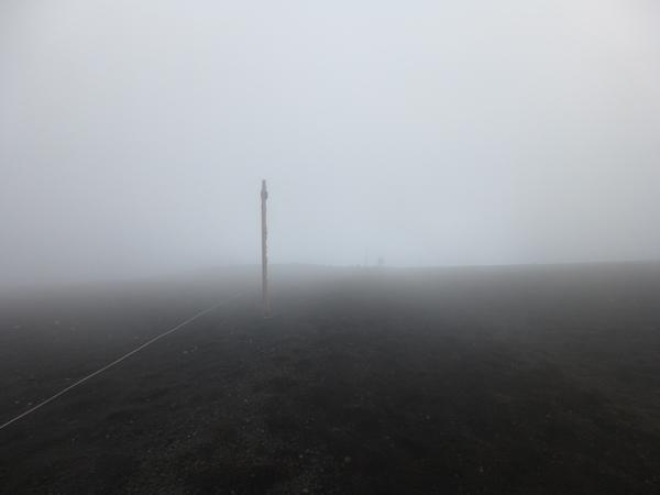 大砂走りでの濃霧
