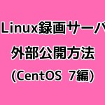 SoftEther VPNでLinux録画サーバを外部公開する方法(CentOS 7編)
